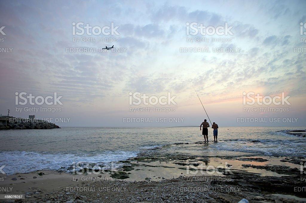 Raouche bay, Beirut, Lebanon royalty-free stock photo