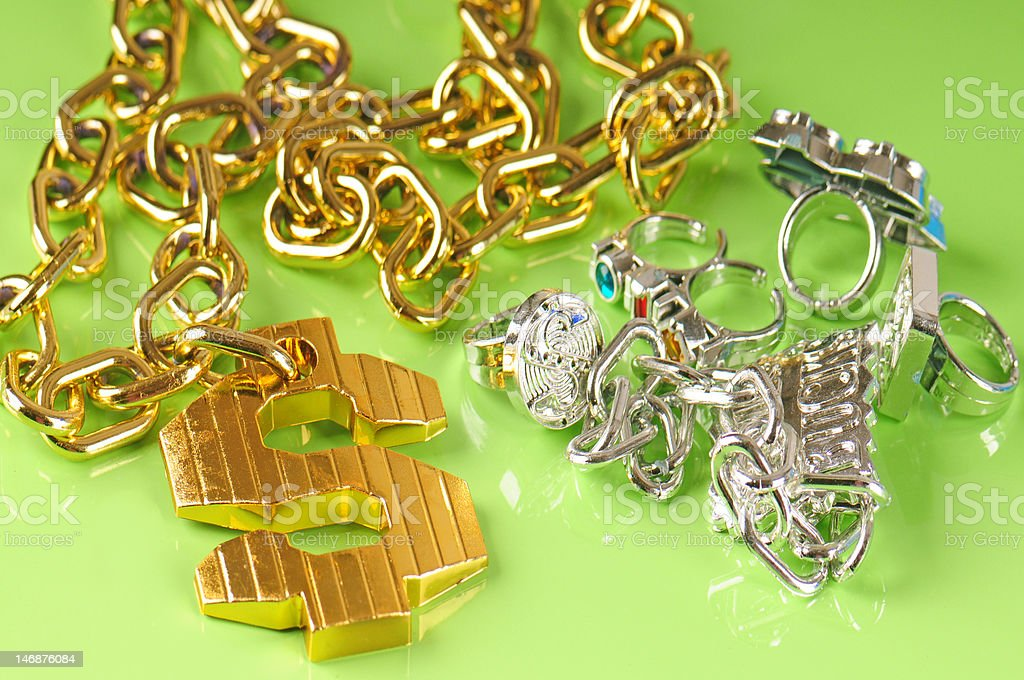 rap jewelry royalty-free stock photo