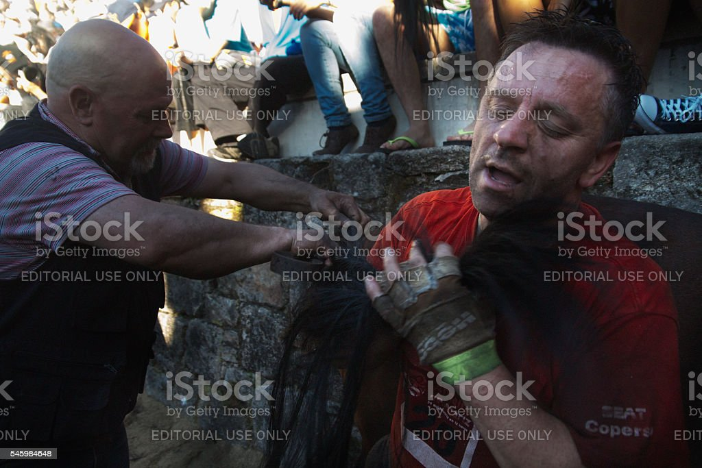 Rapa das Bestas in Sabucedo stock photo