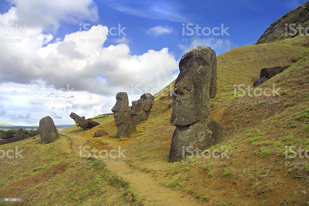Rapa Nui, Easter Island stock photo