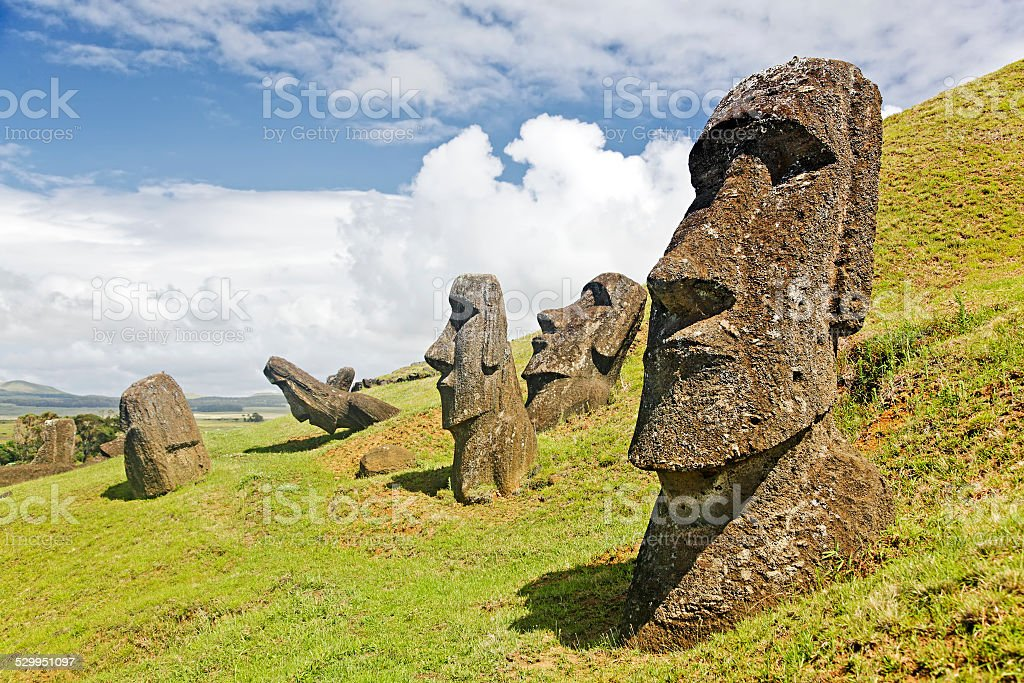 Rapa Nui National Park stock photo