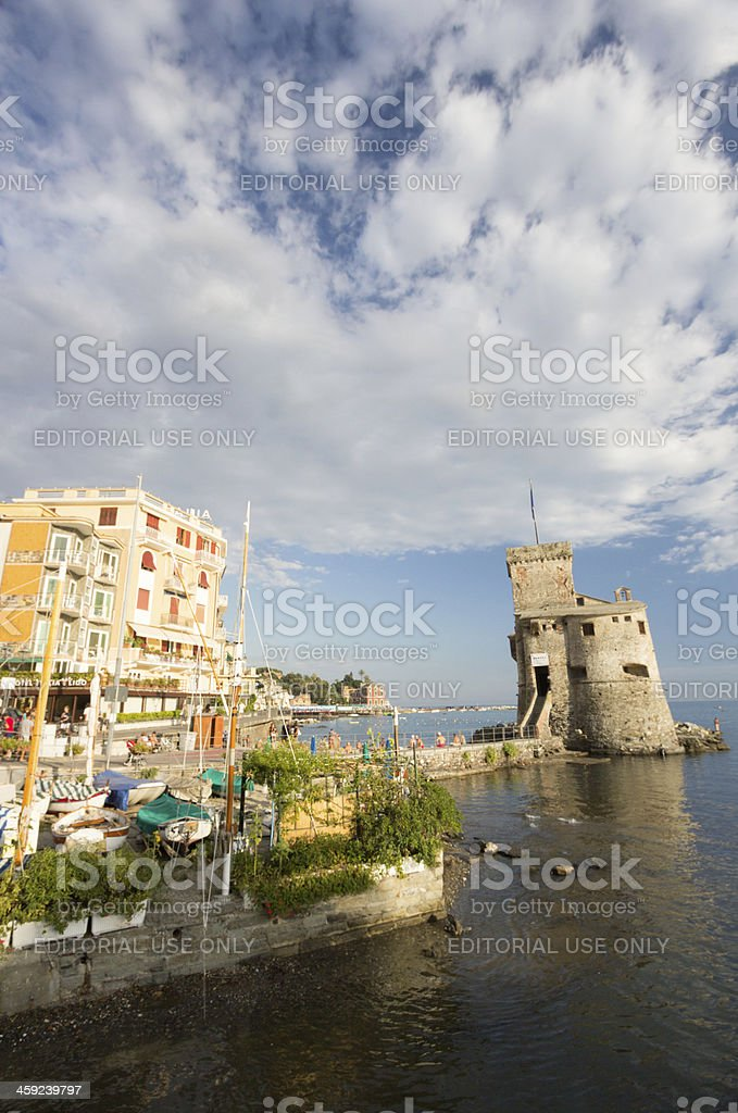 Rapallo Castle on the Riviera di Levante, Italy stock photo