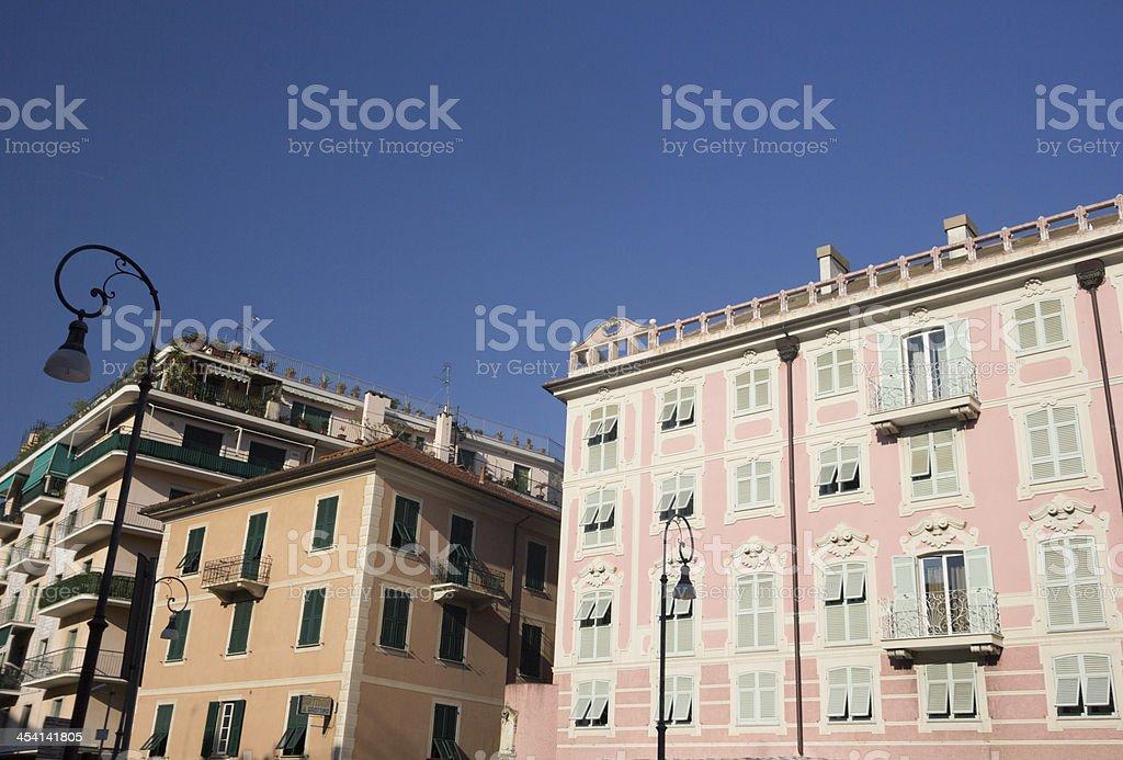 Rapallo on the Riviera di Levante, Italy stock photo
