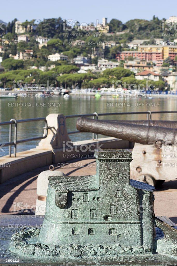 Rapallo on the Riviera di Levante, Italy royalty-free stock photo