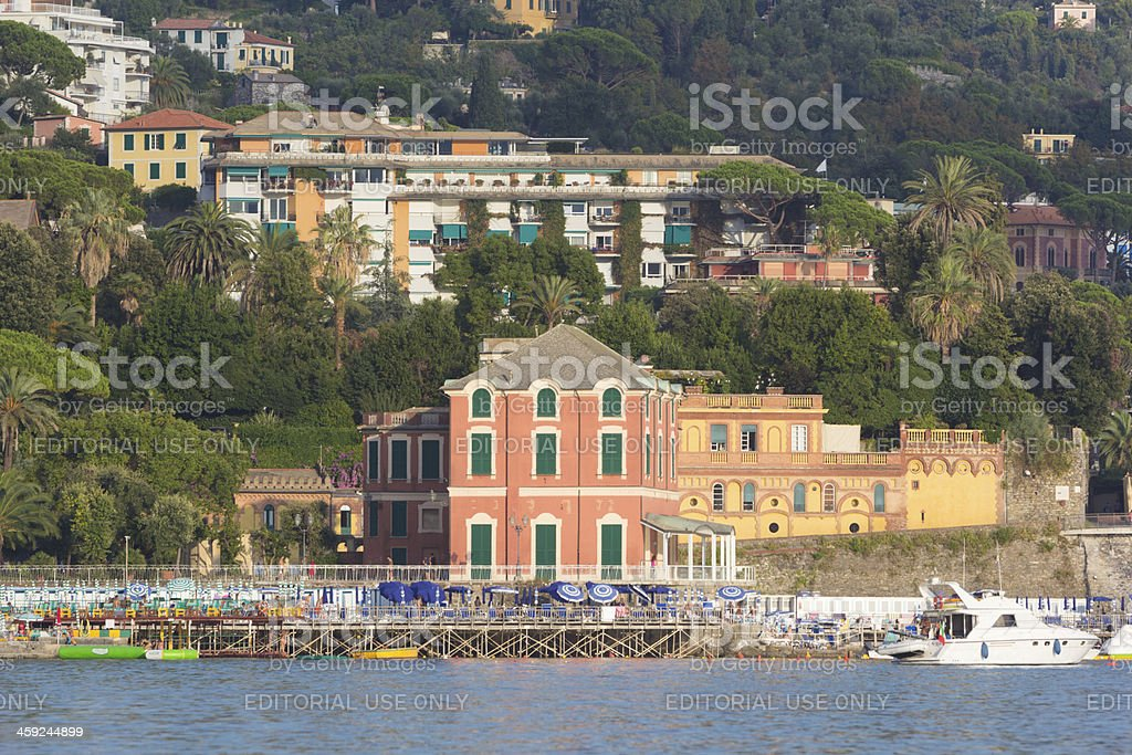 Rapallo on the Riviera di Levante, Italy stock photo