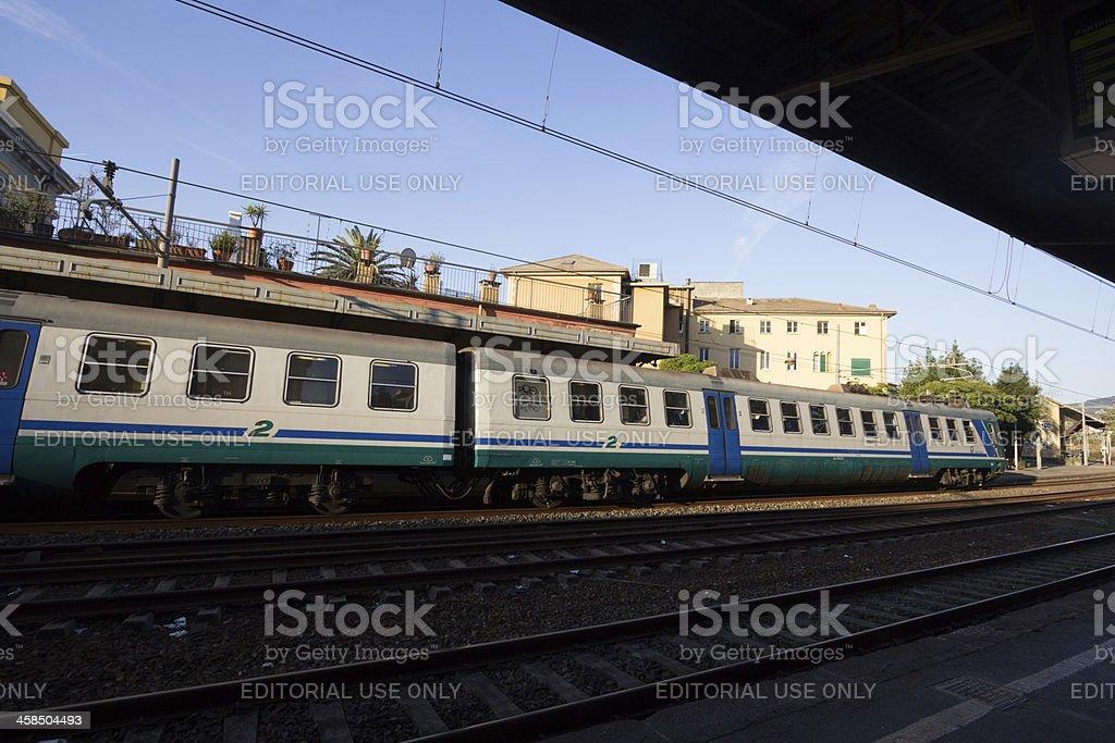 Rapallo Train Station in Liguria, Italy royalty-free stock photo
