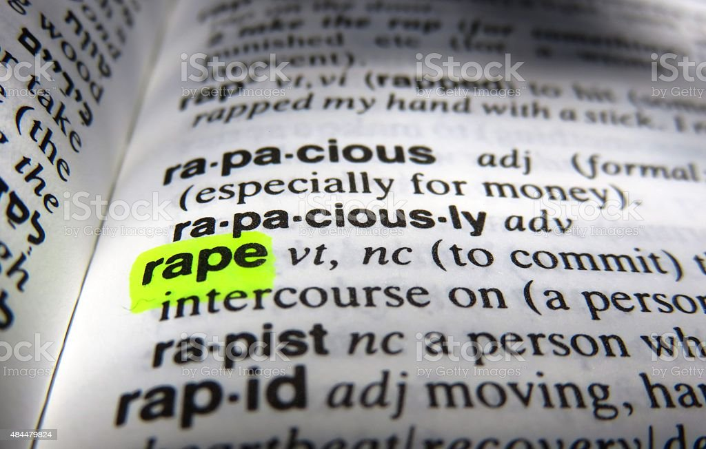 Rape - dictionary definition stock photo