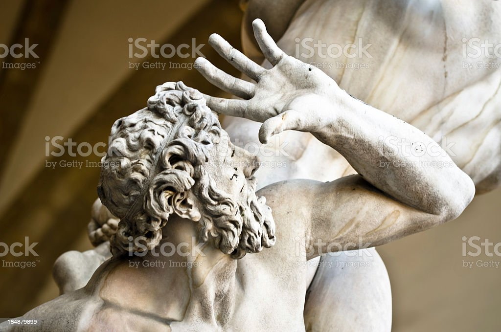 Rape of the Sabine Women Detail stock photo