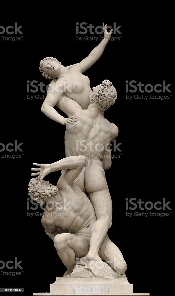 Rape of the Sabine Women royalty-free stock photo