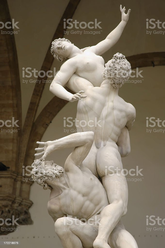 Rape of the Sabine Women Statue In Florence royalty-free stock photo