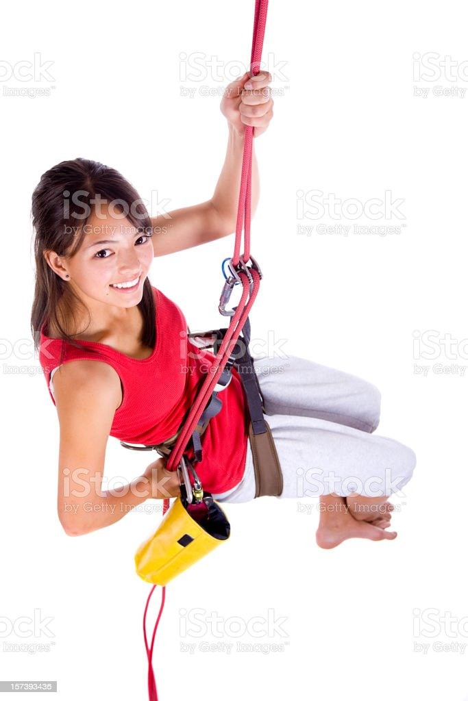 Rapelling Climber royalty-free stock photo