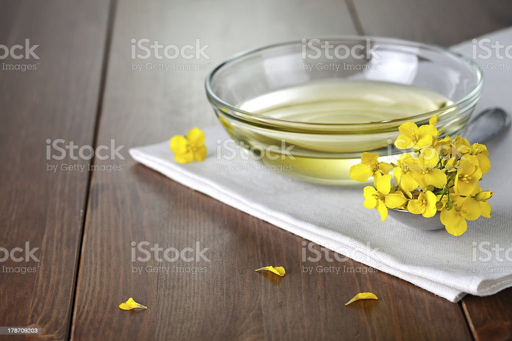 Rapeseed Oil stock photo