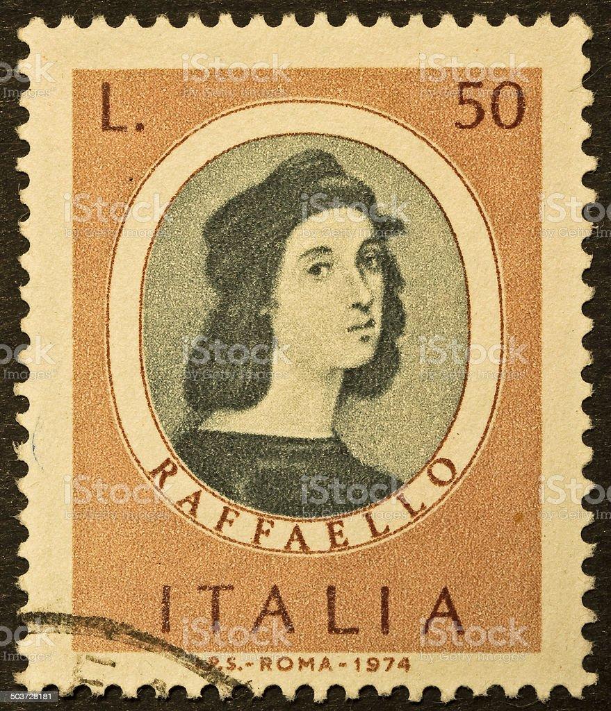 Raphael stamp stock photo