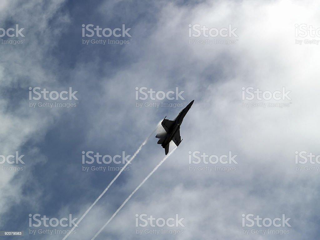 F-18 rapid climb royalty-free stock photo