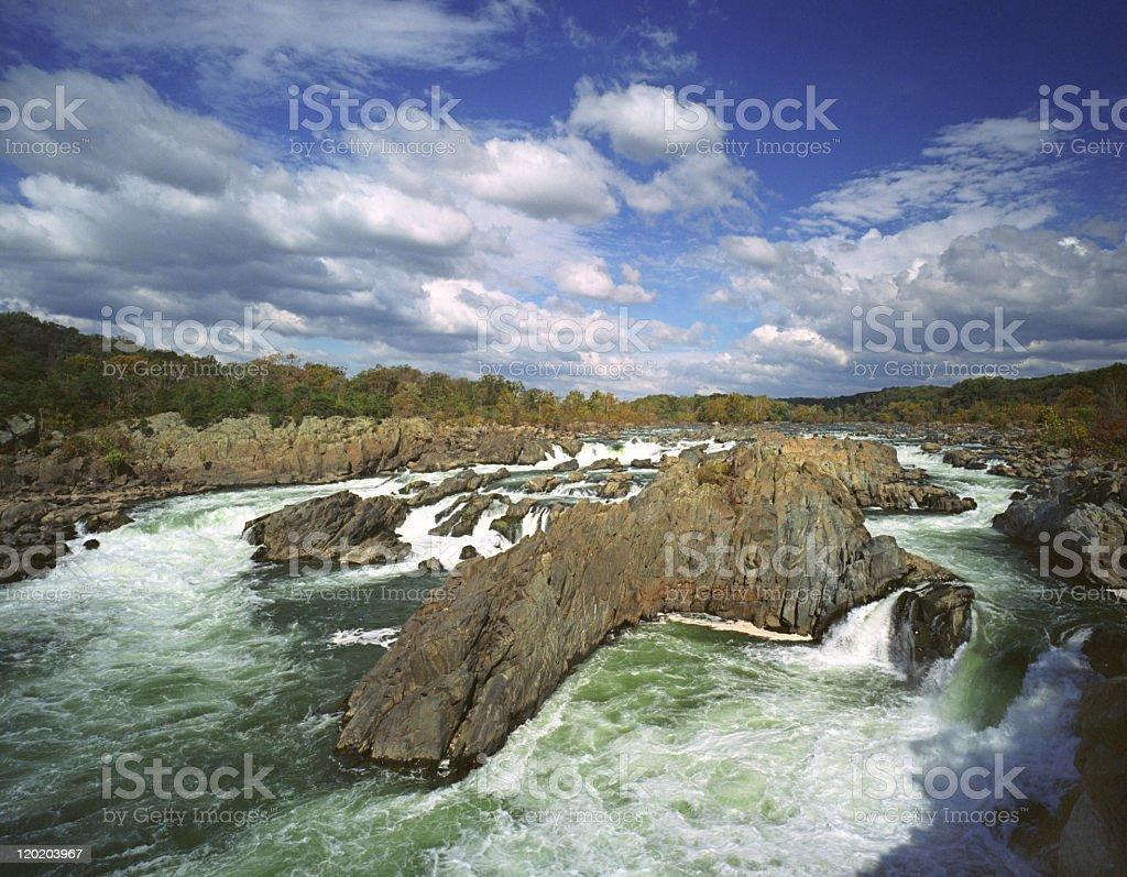 Rapids at Great Falls stock photo