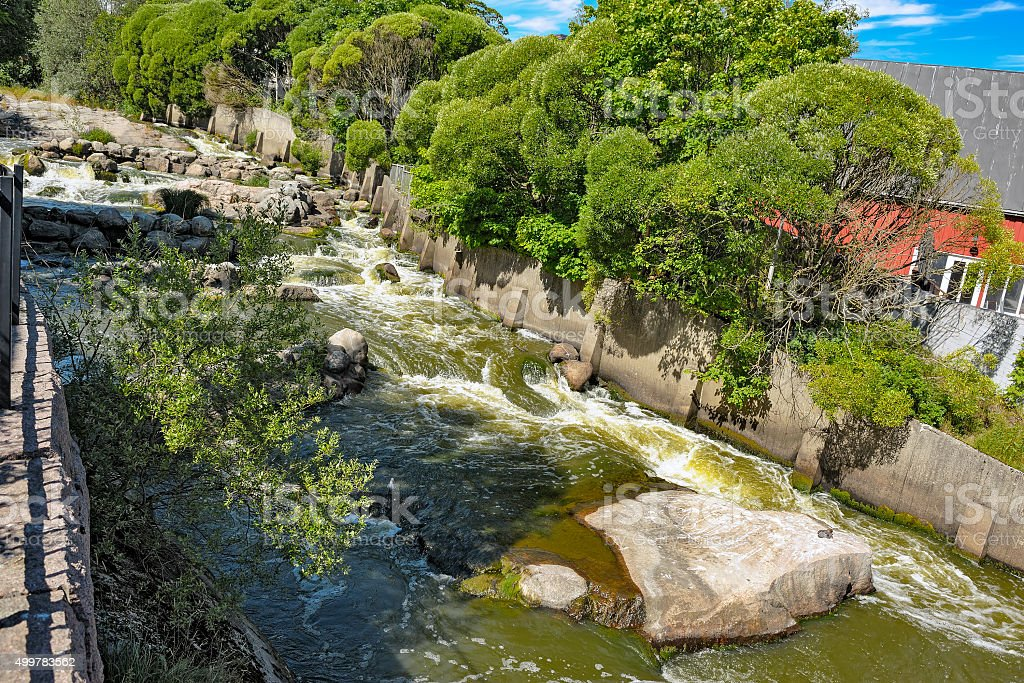 Rapids of Vanhakaupunki stock photo