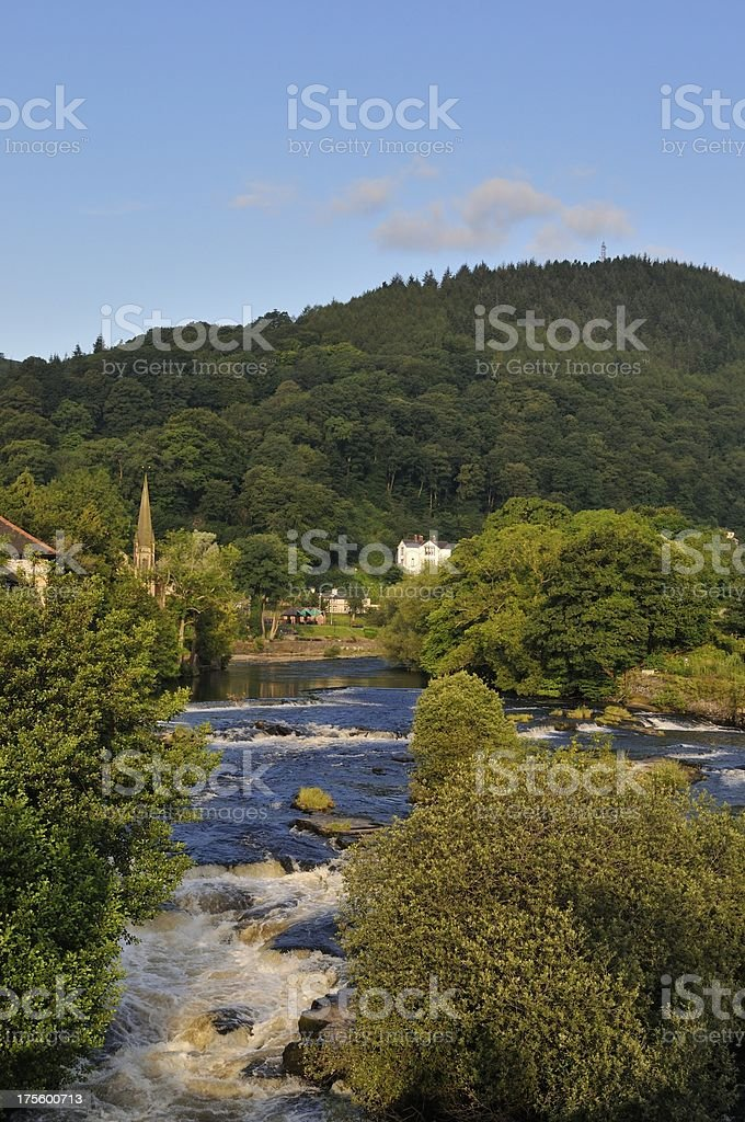 Rapids on the River Dee royalty-free stock photo