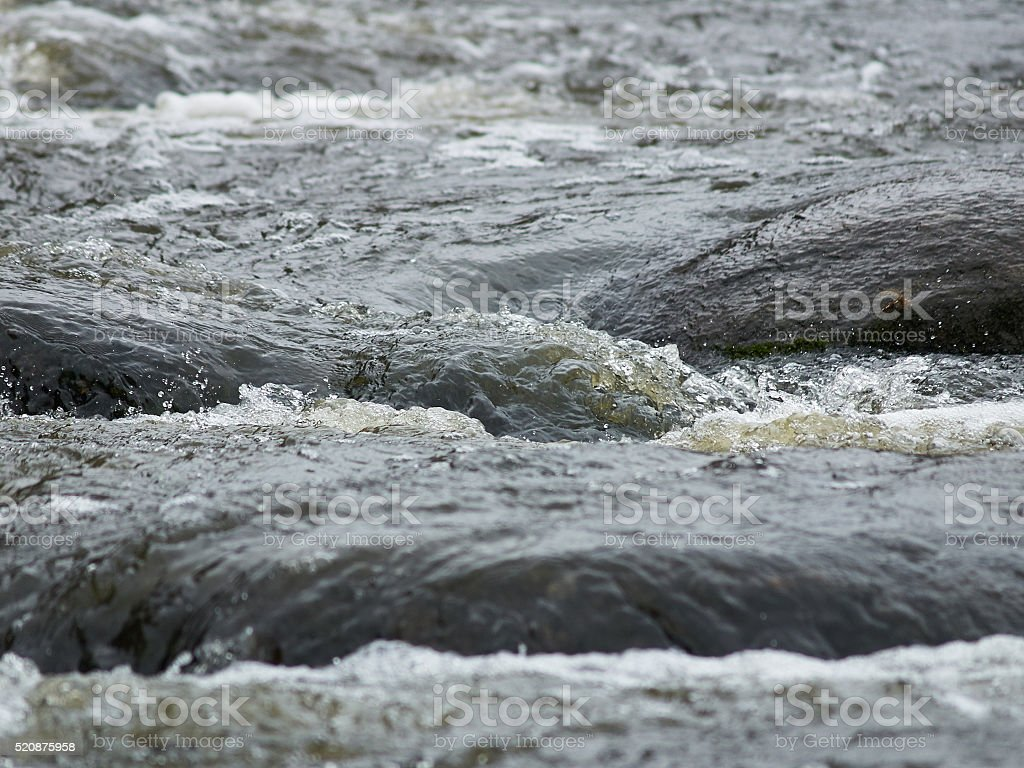 Rapids on the river stock photo
