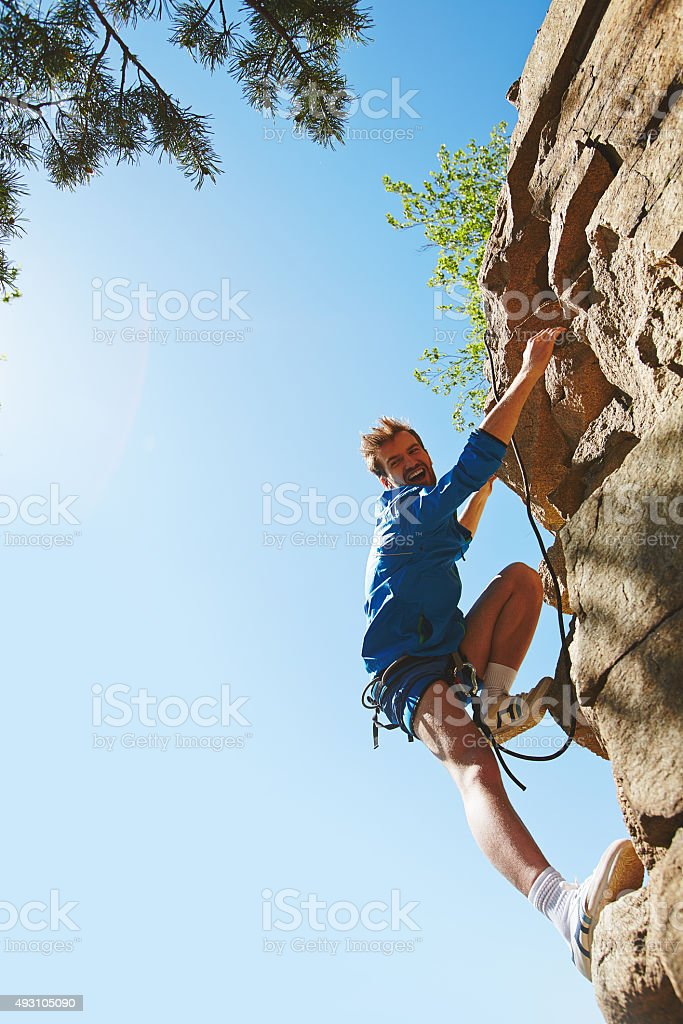 Rappeling stock photo