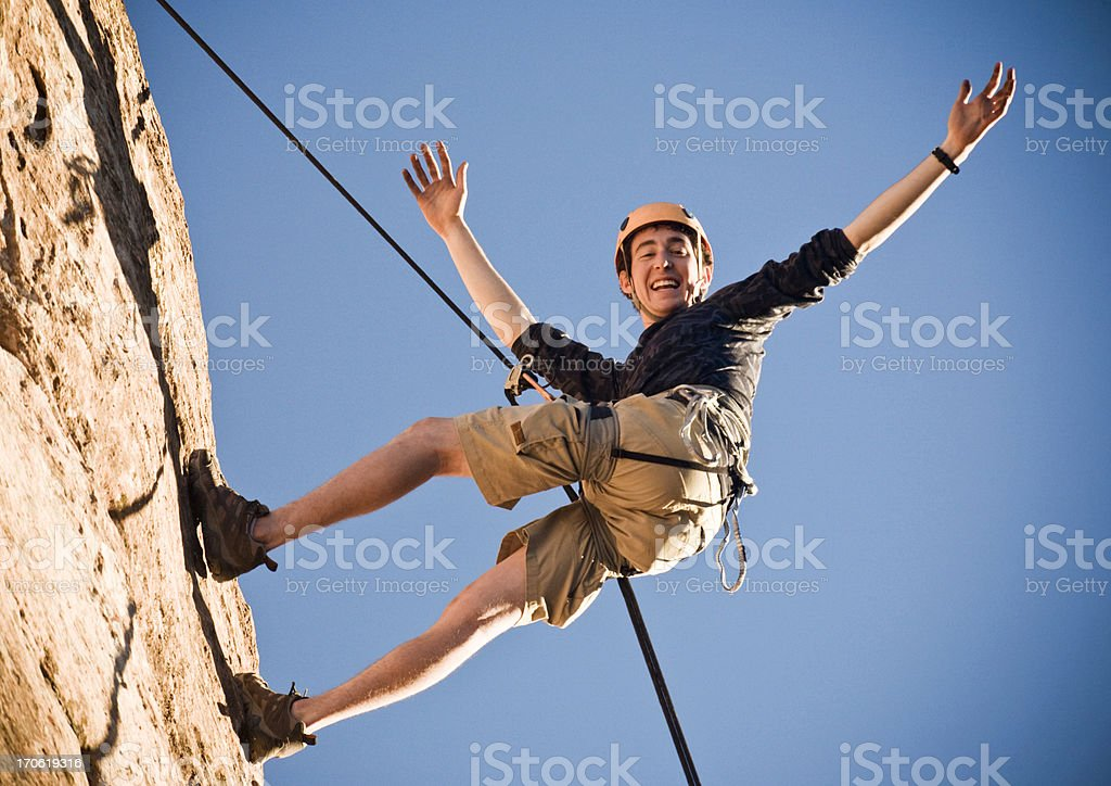 Rappelling Adventure royalty-free stock photo