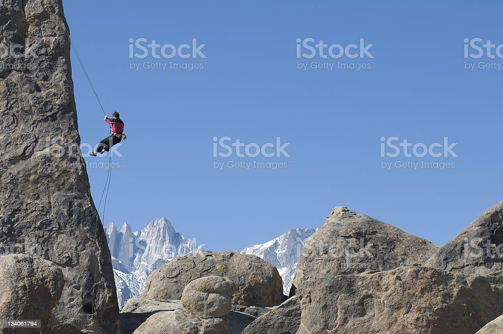 rappelling royalty-free stock photo