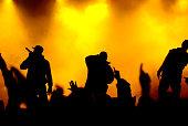 rapper on concert stage