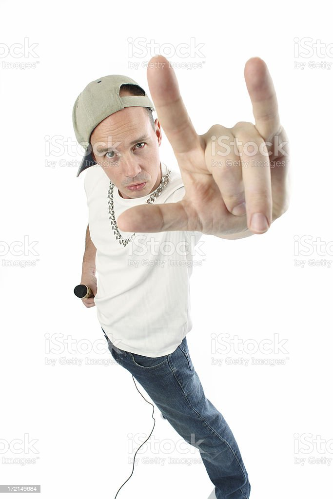 Rapper Wannabe Gesturing royalty-free stock photo