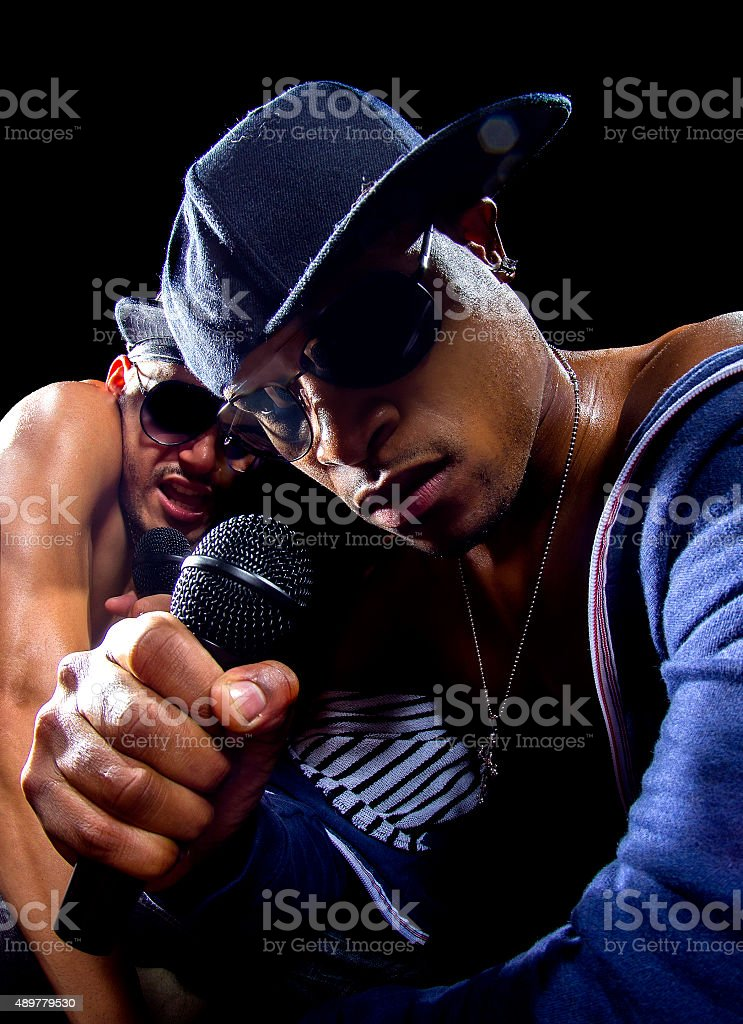 Rappers Hip Hop Concert stock photo