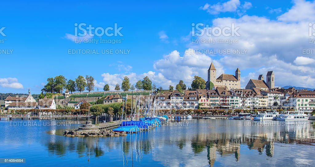 Rapperswil old town stock photo