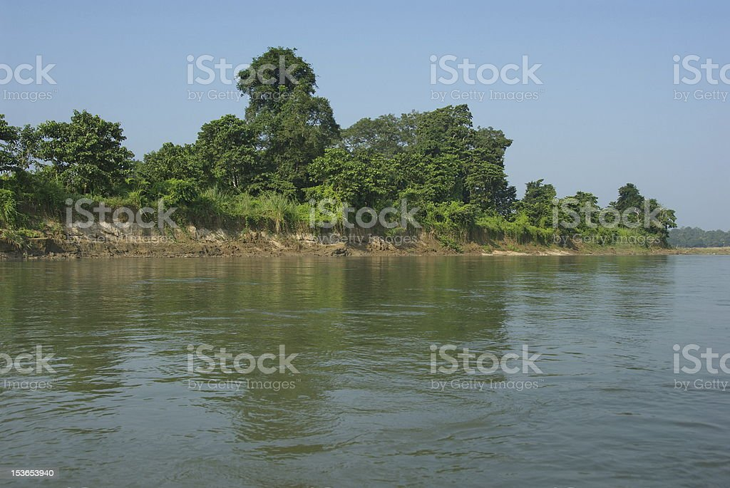 Rapti river bank royalty-free stock photo