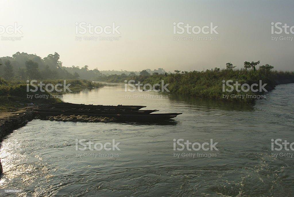 Rapti river stock photo