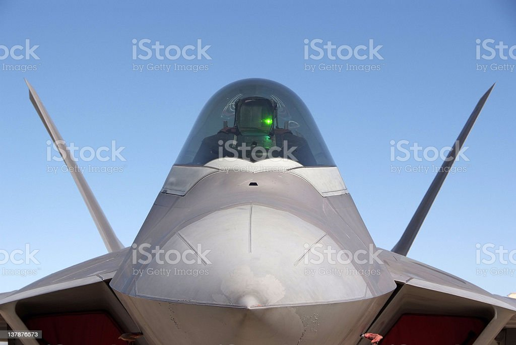 F22 Raptor fighter air plane stock photo