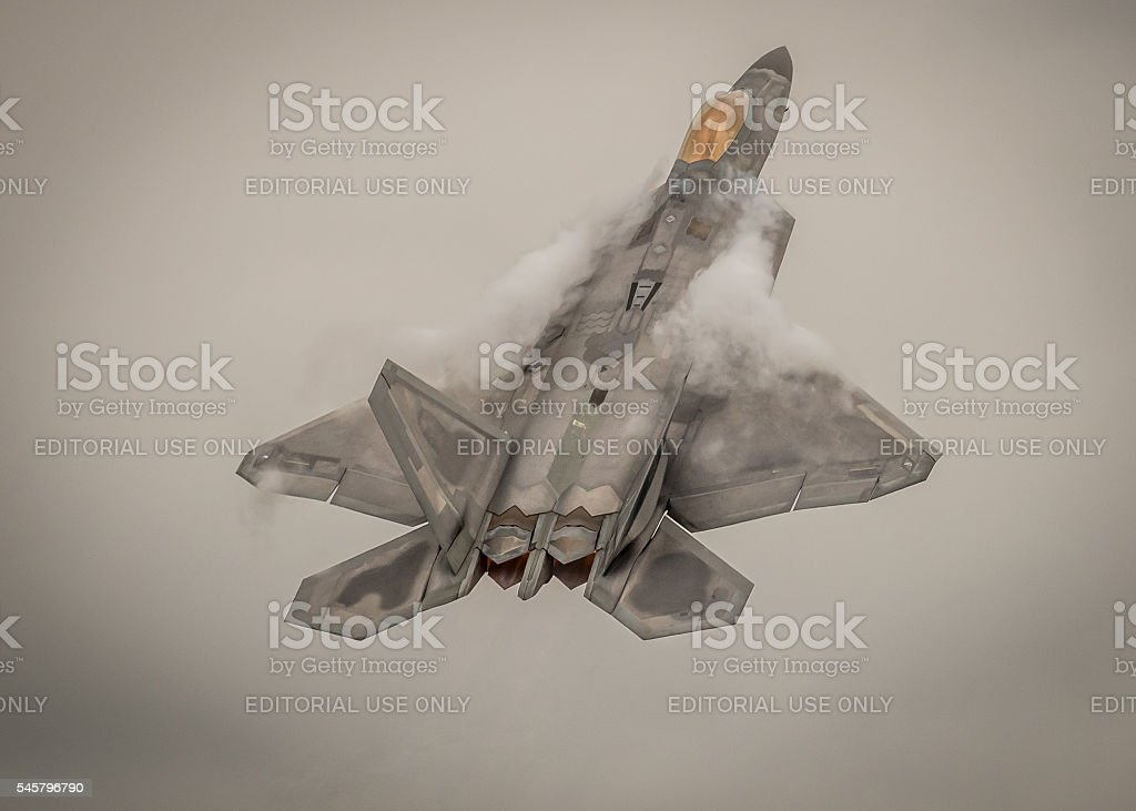 F-22 Raptor fighter aircraft stock photo