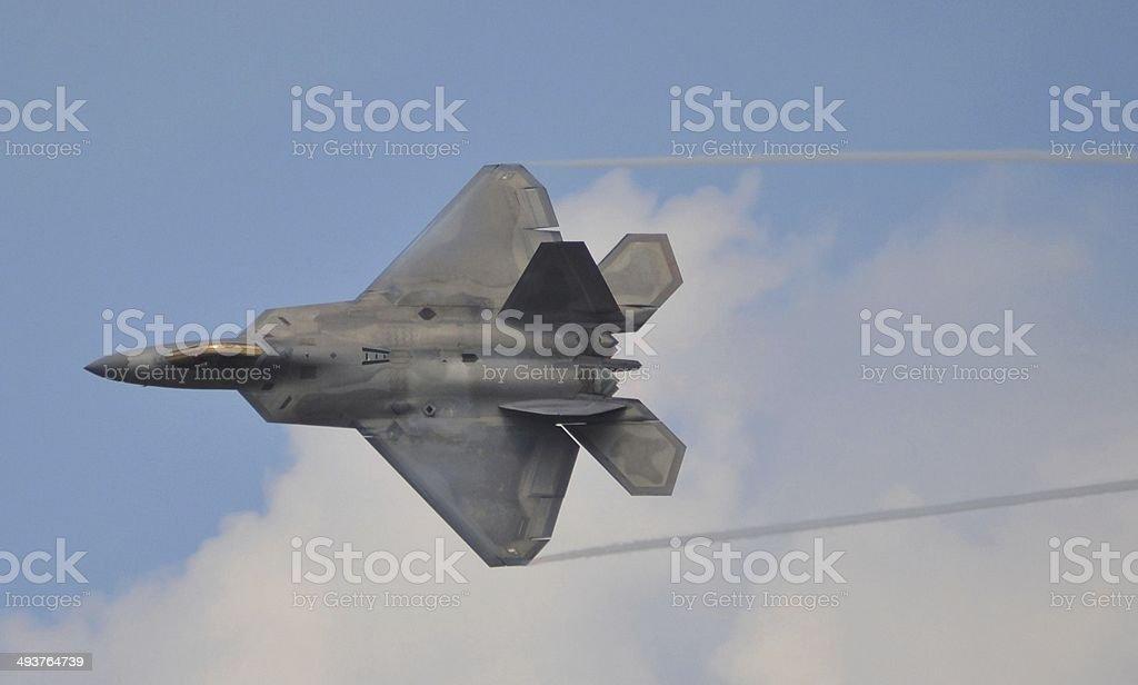 F-22 Raptor Flying stock photo