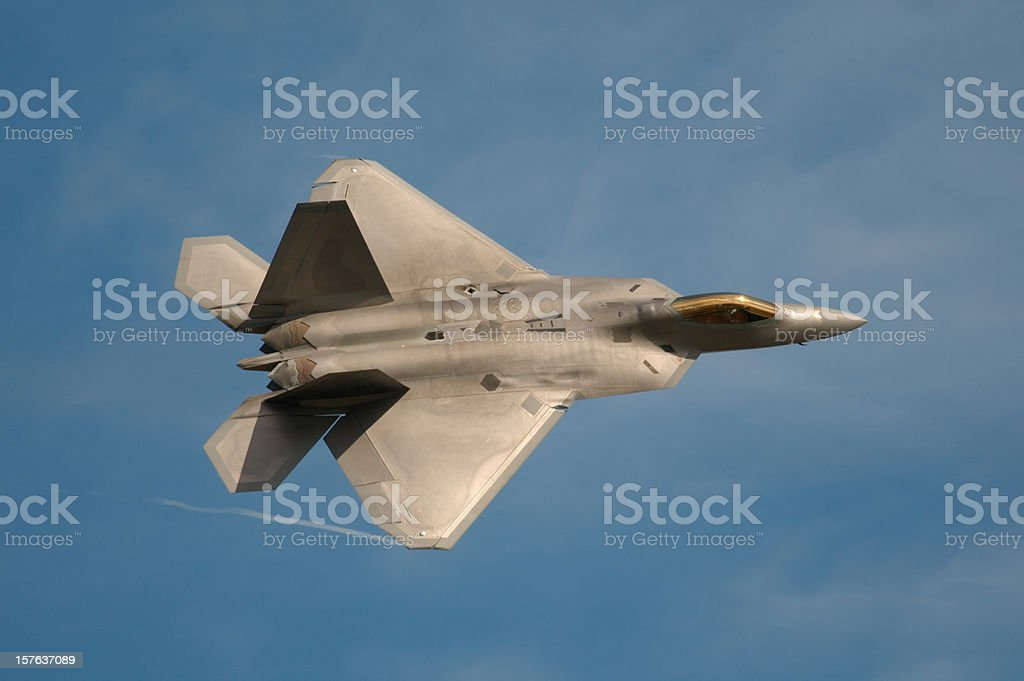 F22 Raptor Jet Fighter royalty-free stock photo