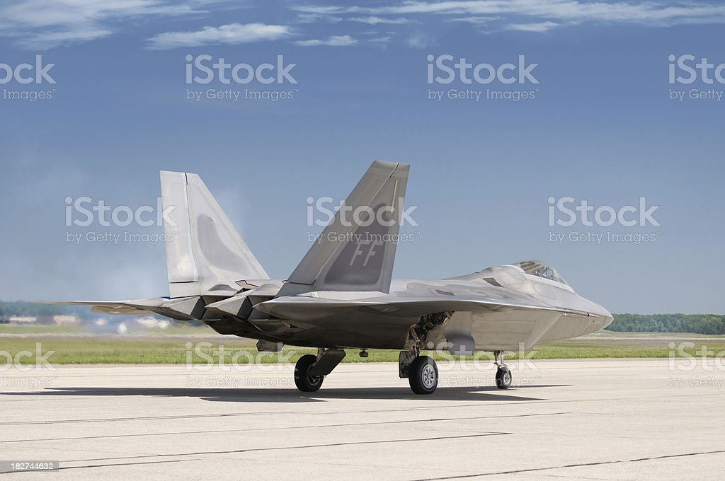 F-22 Raptor Ready for Take Off stock photo