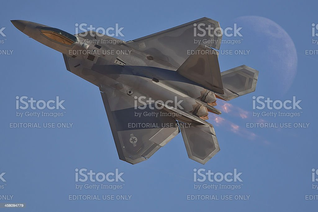 F22 Raptor Stealth Fighter stock photo