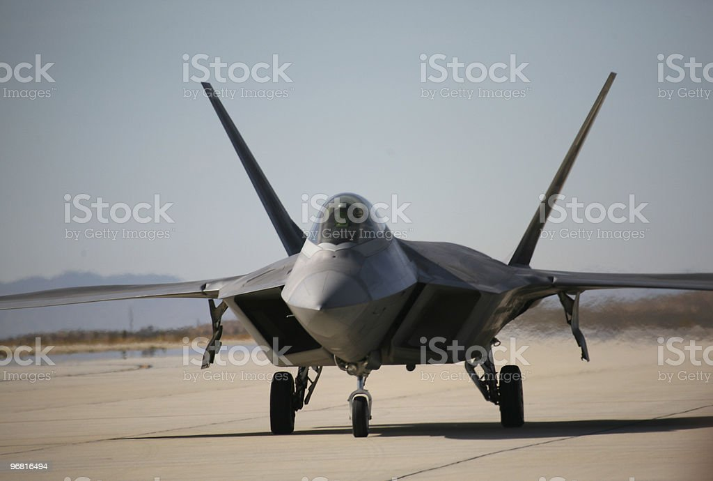 F-22A Raptor Stealth Fighter royalty-free stock photo