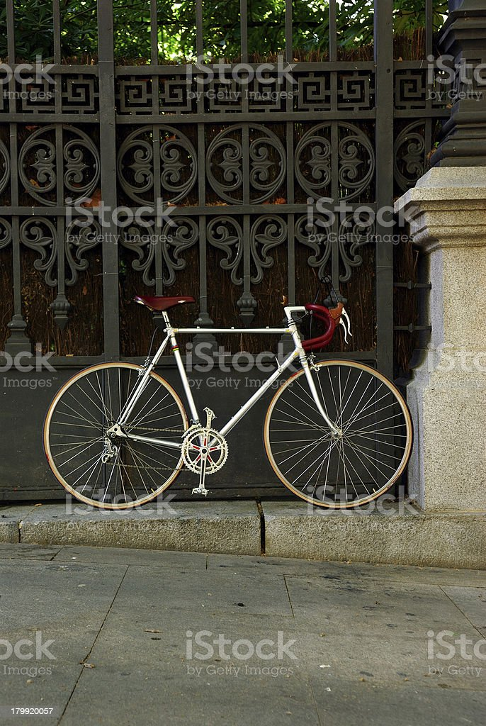 rare aluminum road bicycle stock photo
