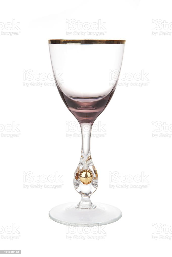 Rare antique wine glass royalty-free stock photo
