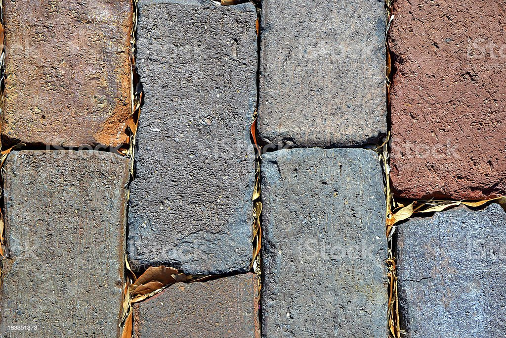 Rare Augusta Block Brick Road from 1800s St. Petersburg Florida stock photo