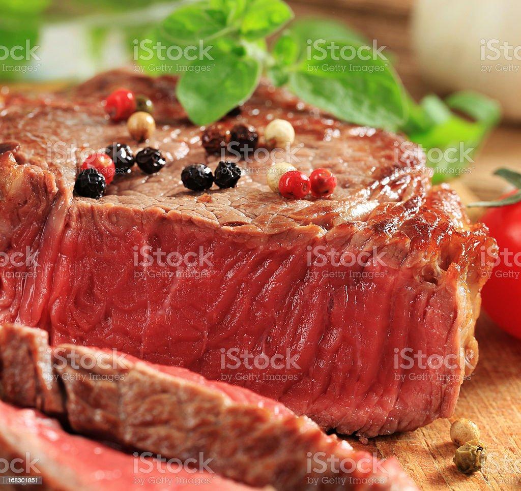 Rare beef steak royalty-free stock photo