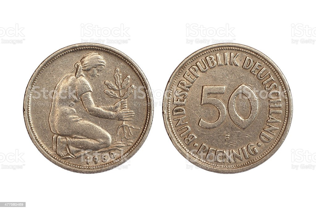 rare coin of germany stock photo