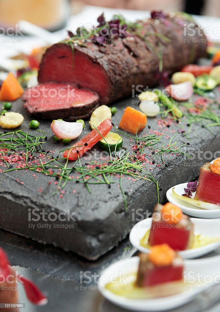 Rare cooked roast-beef royalty-free stock photo