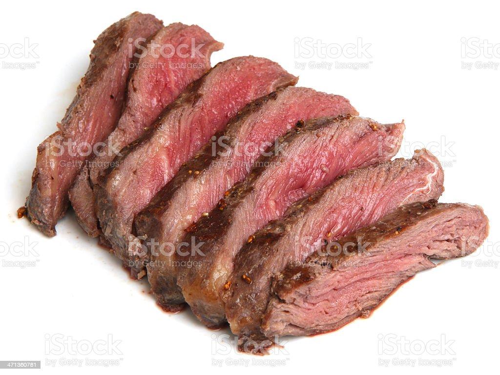 Rare Fillet Steak Sliced stock photo