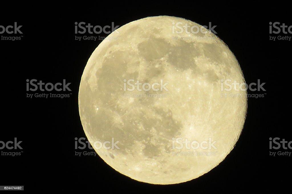 Rare Full Moon stock photo