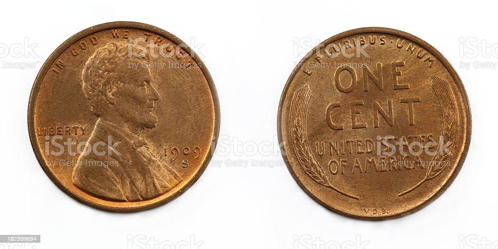 Rare Wheat Penny stock photo