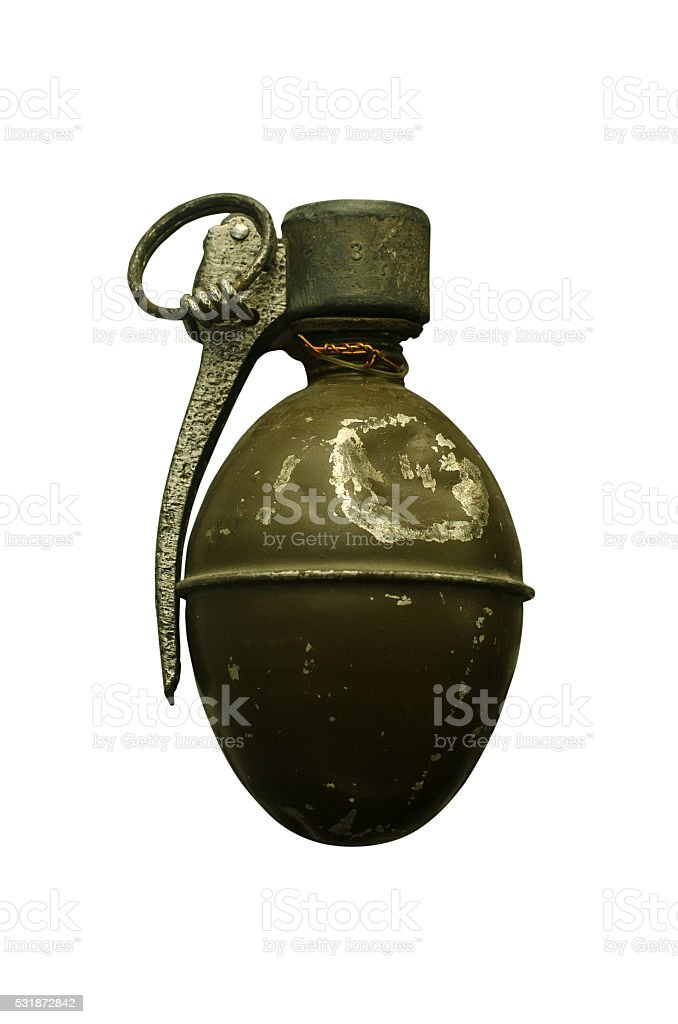 rarity hand grenade stock photo