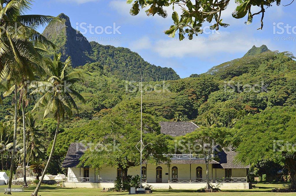 Rarotonga, Cook Islands Para O Tane Palace stock photo