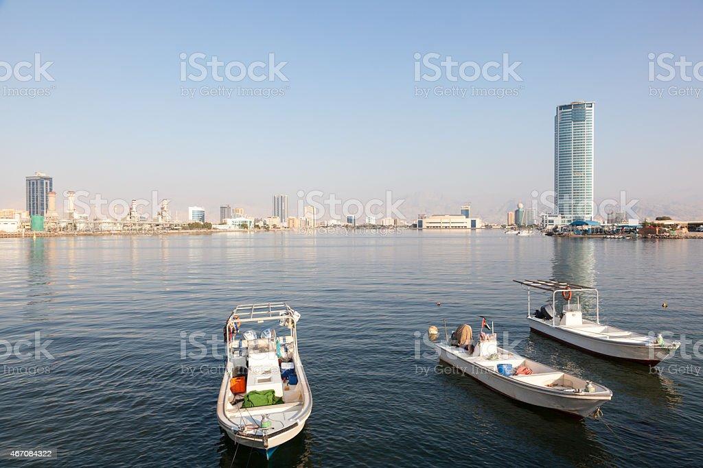 Ras Al Khaimah Creek, UAE stock photo